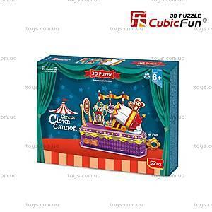 Трехмерная головоломка-конструктор «Цирк Клоун-трюкач», K1303h, фото