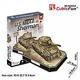 Трехмерная головоломка-конструктор «U.S. M4A4 Sherman», JS4204h