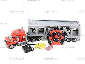 Трейлер «Автовоз» на радиоуправлении, SD-004C, детские игрушки