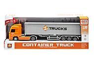 """Трейлер """"Container truck"""" оранжевый, WY795A/B, игрушки"""