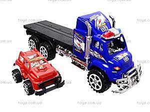 Трейлер детский с машинками, 9050-1A, цена