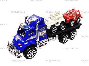 Трейлер детский с машинками, 9050-1A, детские игрушки