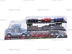 Трейлер и 6 машинок, 66020A, цена