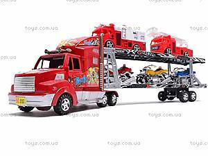 Трейлер и две пожарных машинки, 520-2