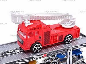 Трейлер и две пожарных машинки, 520-2, купить