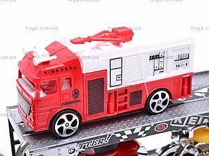 Трейлер и две пожарных машинки, 520-2, фото
