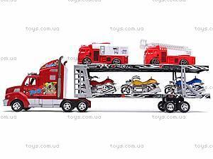 Трейлер и две пожарных машинки, 520-2, цена