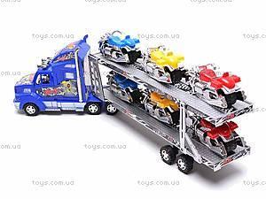 Трейлер и шесть мотоциклов, 520-4, игрушки