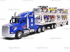 Трейлер инерционный и 8 машинок, YF559-12C, игрушки