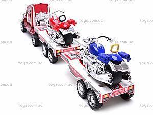 Трейлер инерционный с двумя мотоциклами, 3268-43, цена
