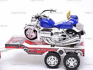 Трейлер инерционный с двумя мотоциклами, 3268-43, игрушки