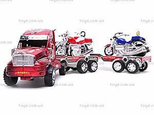 Трейлер инерционный с двумя мотоциклами, 3268-43, детские игрушки