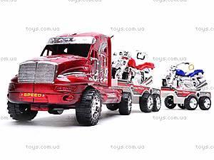 Трейлер инерционный с двумя мотоциклами, 3268-43, магазин игрушек