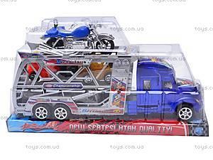 Трейлер инерционный с машинками и мотоциклом, 598-4, отзывы