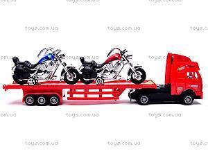 Трейлер инерционный с мотоциклами, 07-03AP, игрушки