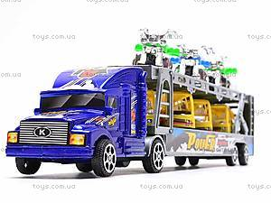 Трейлер инерционный с набором транспорта, 9098-12, фото