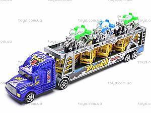 Трейлер инерционный с набором транспорта, 9098-12