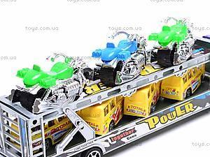 Трейлер инерционный с набором транспорта, 9098-12, цена