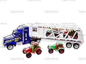 Трейлер инерционный с тракторами, 780-23, цена