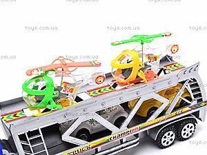 Трейлер инерционный с вертолетами, 2281-7, детские игрушки