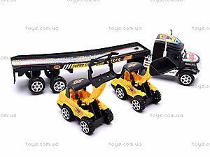 Трейлер инерционный со спецтехникой, 5899-G2, игрушки