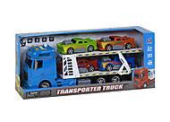 Трейлер с машинками синий (666-61F), 666-61F, купить