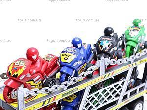 Трейлер с мотоциклами, HY8756-4, игрушки