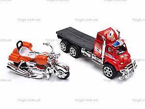 Трейлер с мотоциклом для детей, 9050-8A, фото