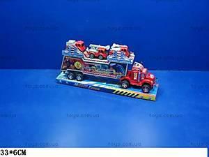 Трейлер с набором машинок, 248-2