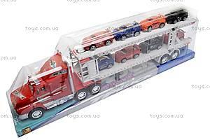 Трейлер, с прицепом и 8 машинками, PY809D-7, купить