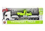 """Трейлер с вертолетиком """"Transport truck"""" белый, WY791A/B"""