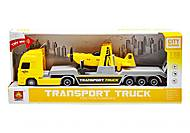 """Трейлер с вертолетиком """"Transport truck"""" желтый, WY791A/B, купити"""