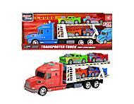 """Трейлер """"Transporter Truck"""" (красный), 666-61Е, интернет магазин22 игрушки Украина"""