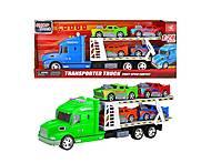 Трейлер «Transporter Truck» салатовый, 666-61Е, опт
