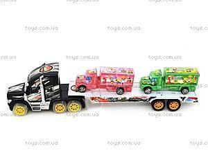 Трейлер игрушечный с грузовиком, 677-76