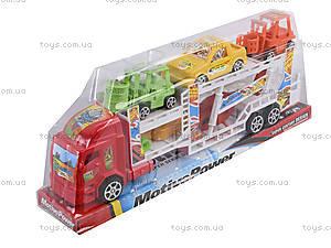 Набор из трейлера и машинок, 921-5, детские игрушки