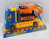 Трейлер инерционный с трактором, 632-18