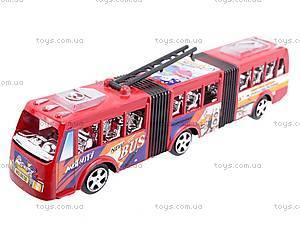 Троллейбус инерционный игрушечный, 8638, цена