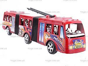Троллейбус инерционный игрушечный, 8638, детские игрушки
