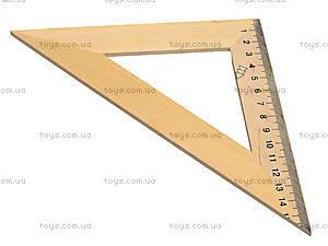 Треугольник деревянный, 16 см, 103021, купить