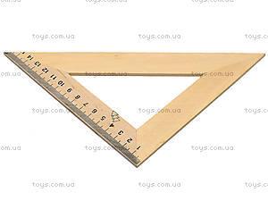 Треугольник деревянный, 16 см, 103021, фото