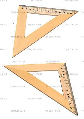 Треугольник деревянный, 16 см, 103021