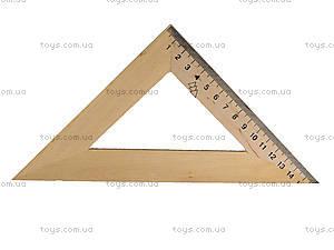 Треугольник деревянный, 16 см, 103021, цена