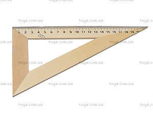 Треугольник деревянный, 22 см, 103019, купить