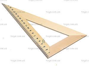 Треугольник деревянный, 22 см, 103019, фото