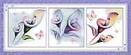 Триптих «Разноцветные цветы» для вышивки, H191, купить
