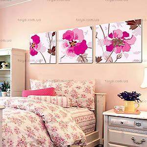 Триптих «Розовые цветы», MT3072, купить