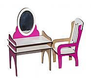 Трюмо + стул (бело-розовый), Б35, купить