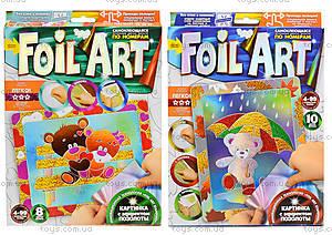 Аппликация цветной фольгой по номерам Foil Art, , отзывы