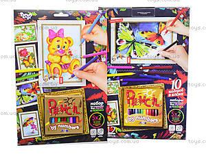 Картины по номерам Pencil by numbers, , игрушки